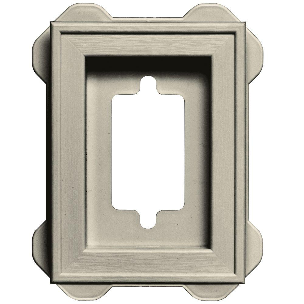 4.5 in. x 6.3125 in. #089 Champagne Recessed Mini Universal Mounting