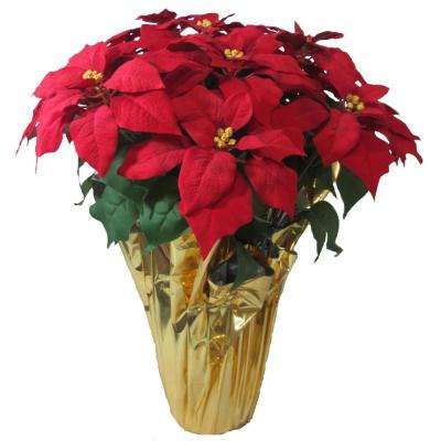 28 in extra large un lit poinsettia arrangement case of 2