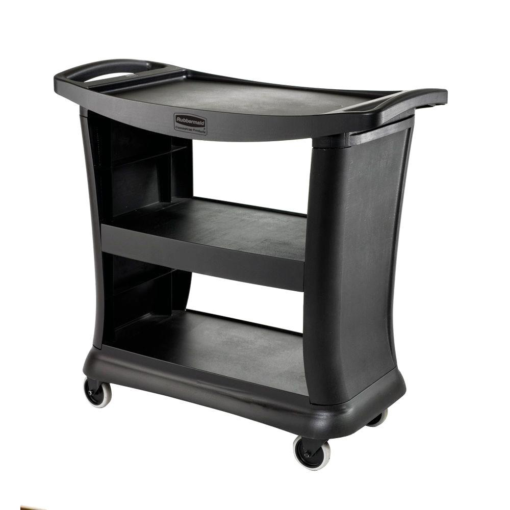 Rubbermaid Commercial Products Executive 3-Shelf Service Cart ...