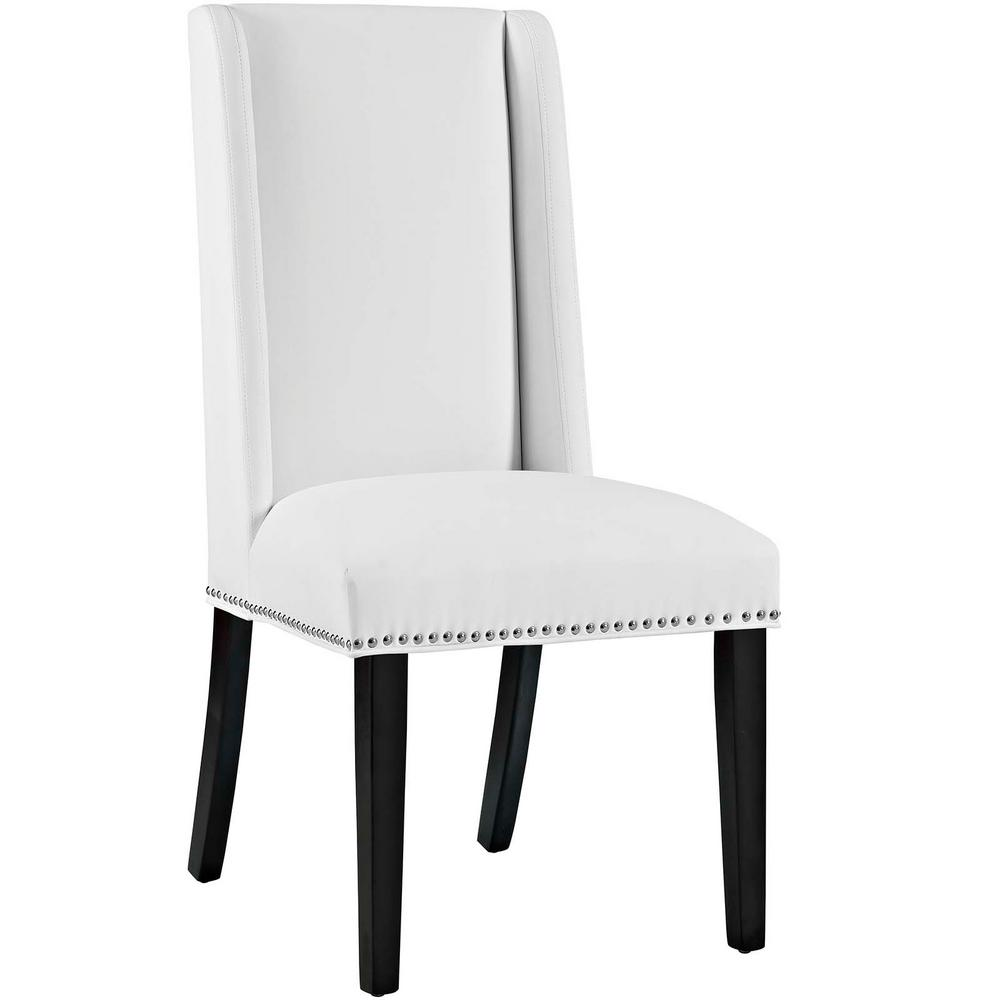 MODWAY Baron White Vinyl Dining Chair