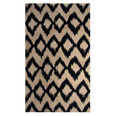 Ikat Navy 5 Ft X 7 Indoor Printed Area Rug Chesapeake Merchandising
