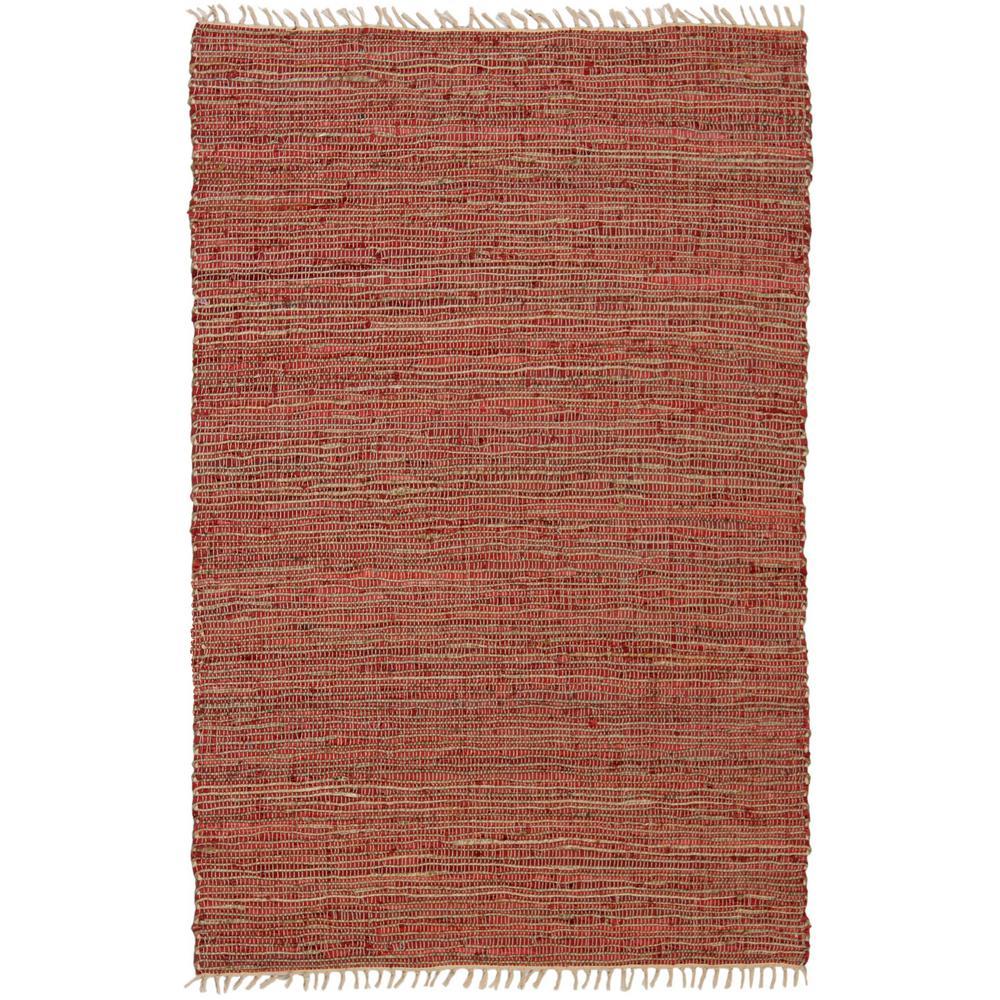 Copper Leather & Hemp 30 in. x 50 in. Accent Rug