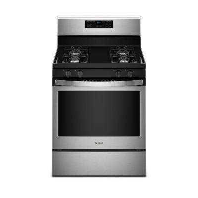 5.0 cu. ft. Freestanding Gas Range with Adjustable Self-Cleaning in Stainless Steel