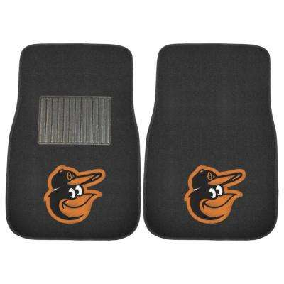 MLB - Baltimore Orioles 17 in. x 25.5 in. 2-Piece Set of Embroidered Car Mat