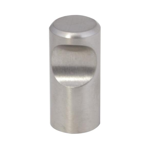 Barrel 0.63 in. Dia. (16 mm) Stainless Steel Hardware Cabinet Knob