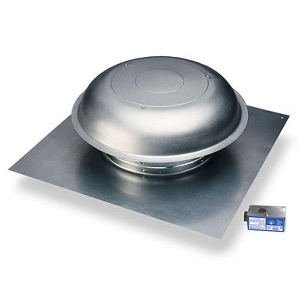 Master Flow 1000 CFM Power Roof Mount Vent In Mill
