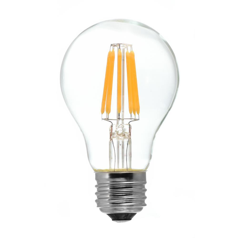 60 Watt Equivalent A19 Medium Base Dimmable Clear Led