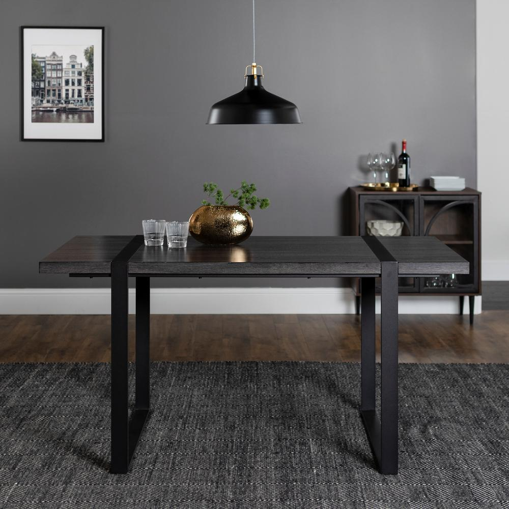 Walker Edison Furniture Company Urban Blend 60 in. Charcoal Wood Dining Table