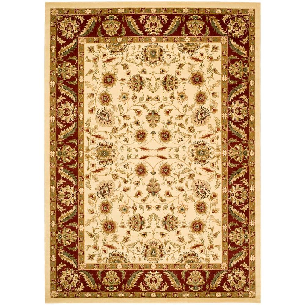 Safavieh Lyndhurst Ivory Red 4 Ft X 6 Area Rug