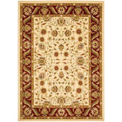 Lyndhurst Ivory Red 4 Ft X 6 Area Rug