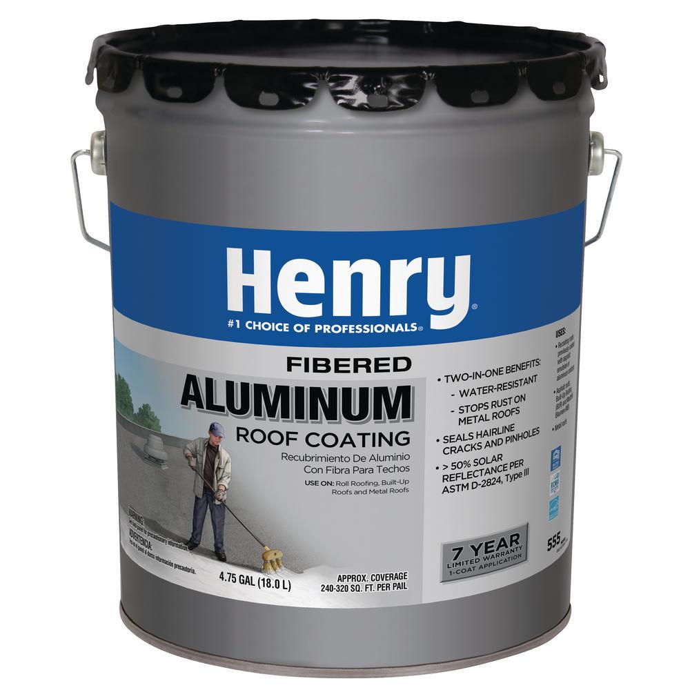 4.75 GAL HE555 Premium Aluminum Reflective Roof Coating