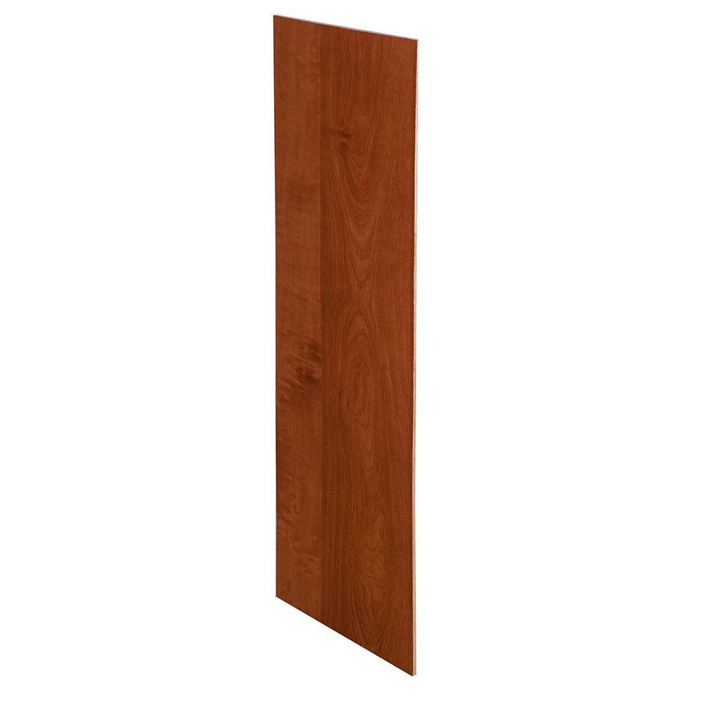 Home Decorators Collection Kingsbridge Cabernet Assembled 23.25x12x0.1875 in. Wall Kitchen Skin End Panel