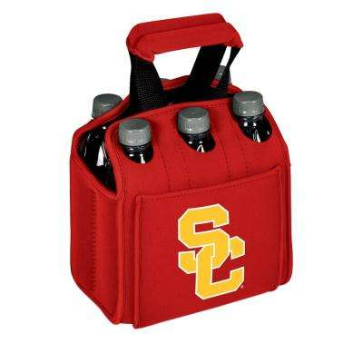 University of Southern California Trojans 6-Bottles Red Beverage Carrier