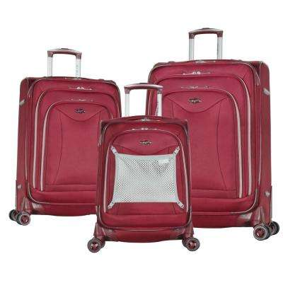 Luxe II Burgundy 3-Piece Expandable Spinner Set