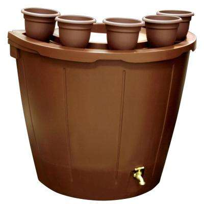 50 Gal. Rain Barrel with 5 Planters