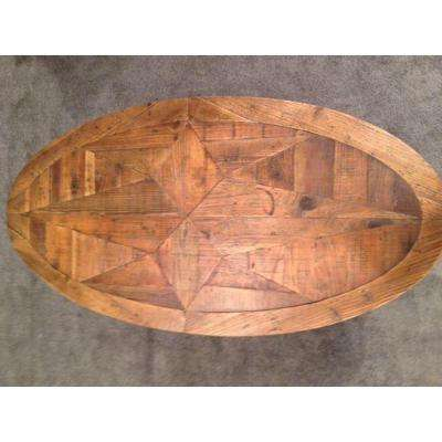 Oval Rustic Coffee Table Tables Accent