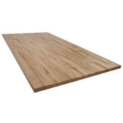 8 ft. L x 4 ft. D x 1.75 in. T Butcher Block Countertop in Finished Maple