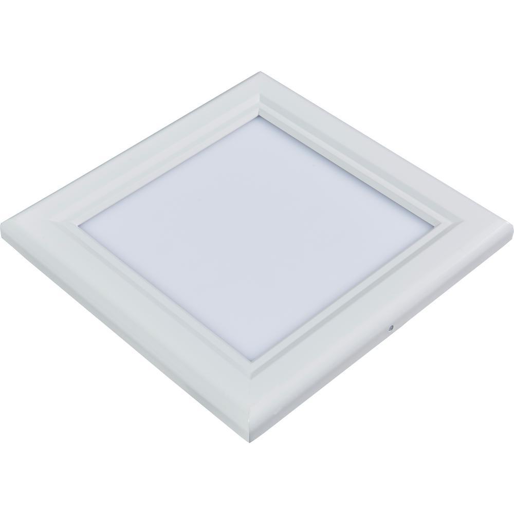 1 ft. x 1 ft. White Dimmable Edge-Lit 15-Watt 5000K Integrated LED Flat Panel Flushmount