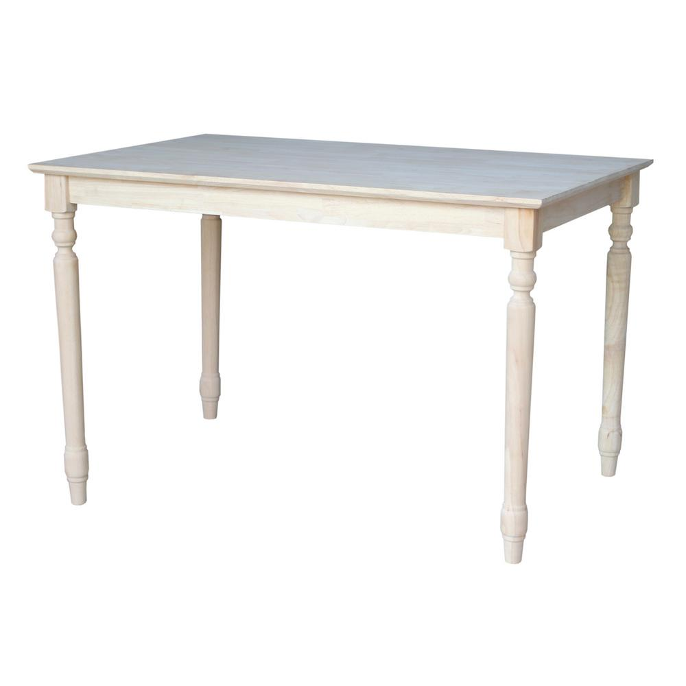 Unfinished Solid Wood Dining Table By International Concepts