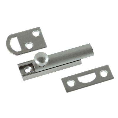 2 in. Satin Nickel Solid Brass Slide Door Bolt