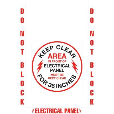18 in. Electrical Panel Floor Sign Kit
