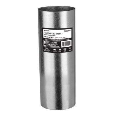 24 in. x 50 ft. Galvanized Steel Roll Valley Flashing
