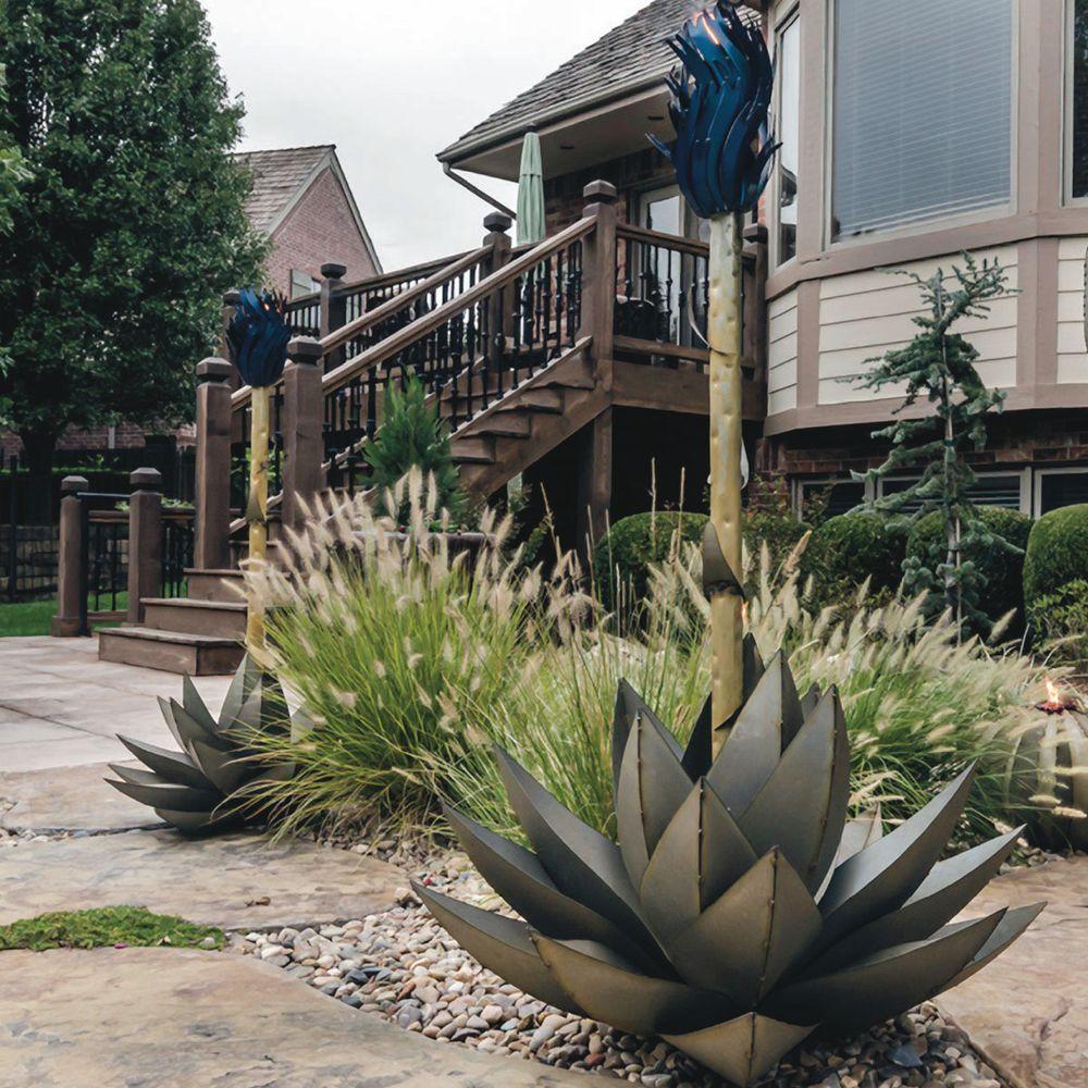 Large Blue Agave Torch