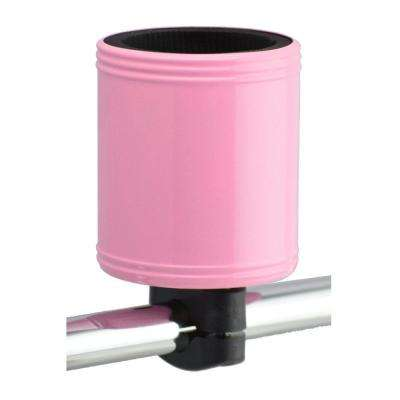 Kroozercups Drink Holder 2.0 Fits Bars from 5/8 in. to 1-3/8 in. with New Super-Tight Grip in Pink