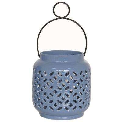 6.5 in. Denim Ceramic Lantern