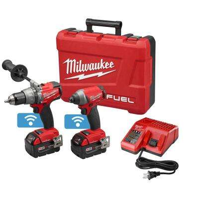 M18 FUEL 18-Volt ONE-KEY Lithium-Ion Brushless Cordless Hammer Drill/Impact Driver Combo Kit w/(2) 5.0Ah Batteries, Case