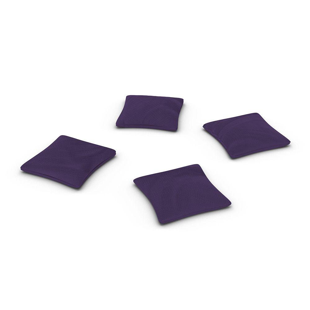 Official ACA Sized Purple Corn-filled Duck Cloth Cornhole Bags (Set of 4)