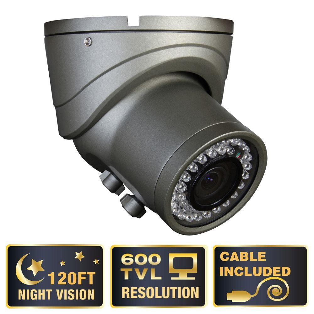 Q-SEE Elite Series Wired 600 TVL 120 Night Vision Indoor Dome Surveillance Camera-DISCONTINUED