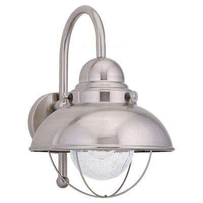 Sebring 1-Light Brushed Stainless Outdoor Wall Fixture