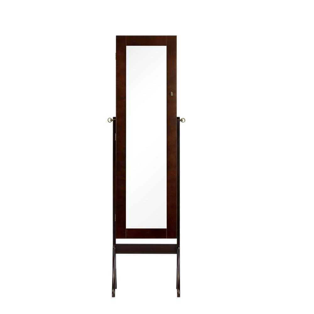 Charlotte 16 in. x 60 in. Standing Jewelry Armoire in Dark