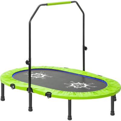 55-inch Mini Trampoline w/ Adjustable Handrail and Safety Cover for 2 Kids