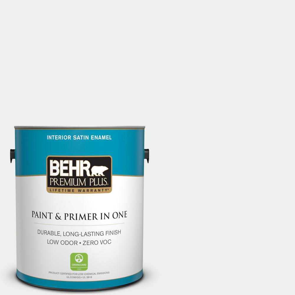 1 gal. #57 Frost Satin Enamel Interior Paint