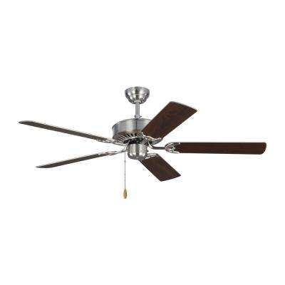Haven 52 in. Brushed Steel Ceiling Fan with Dual Finished Blades