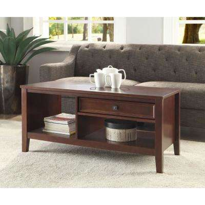 Wander Cherry Built-In Storage Coffee Table