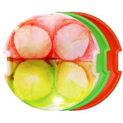 ESP Series 26 in. Day Glow Sno Racer Disc Snow Sleds in Tie-Dye, Neon Green, Neon Orange (3-Pack)