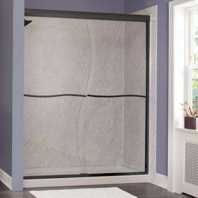 Marina 60 in. W x 72 in. H Frameless Sliding Shower Door in Oil Rubbed Bronze without Handle