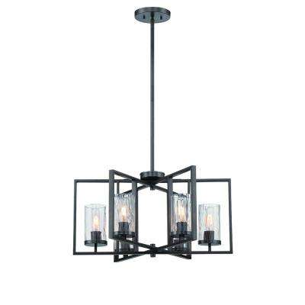 Elements 6-Light Charcoal Interior Incandescent Chandelier
