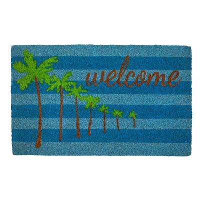Palm Trees Coir 28 in. x 17 in. Door Mat with Backing
