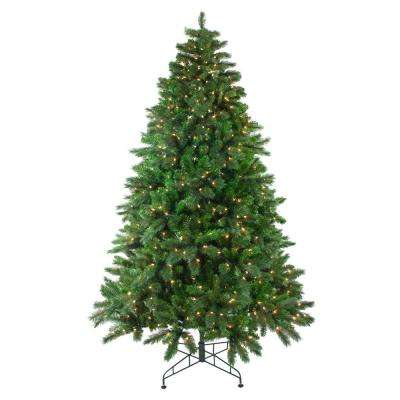 90 in. Pre-Lit Mixed Scotch Pine Artificial Christmas Tree with Clear Lights