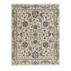 Home Decorators Collection Jackson Blue Ivory 8 ft x 8 ft Round