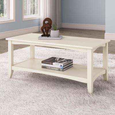 Cambridge Antique White 2-Tiered Coffee Table