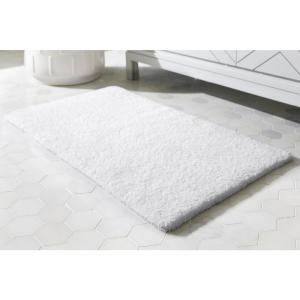 White 17 in. x 24 in. Cotton Reversible Bath Rug