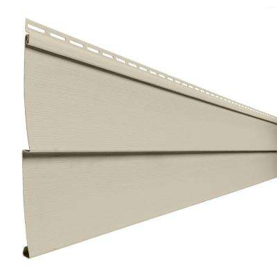 Transformations Double 5 in. x 24 in. Vinyl Siding Sample in Pewter