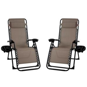 Premier Metal Outdoor Patio Recliner Gravity Chairs (2-Pack)