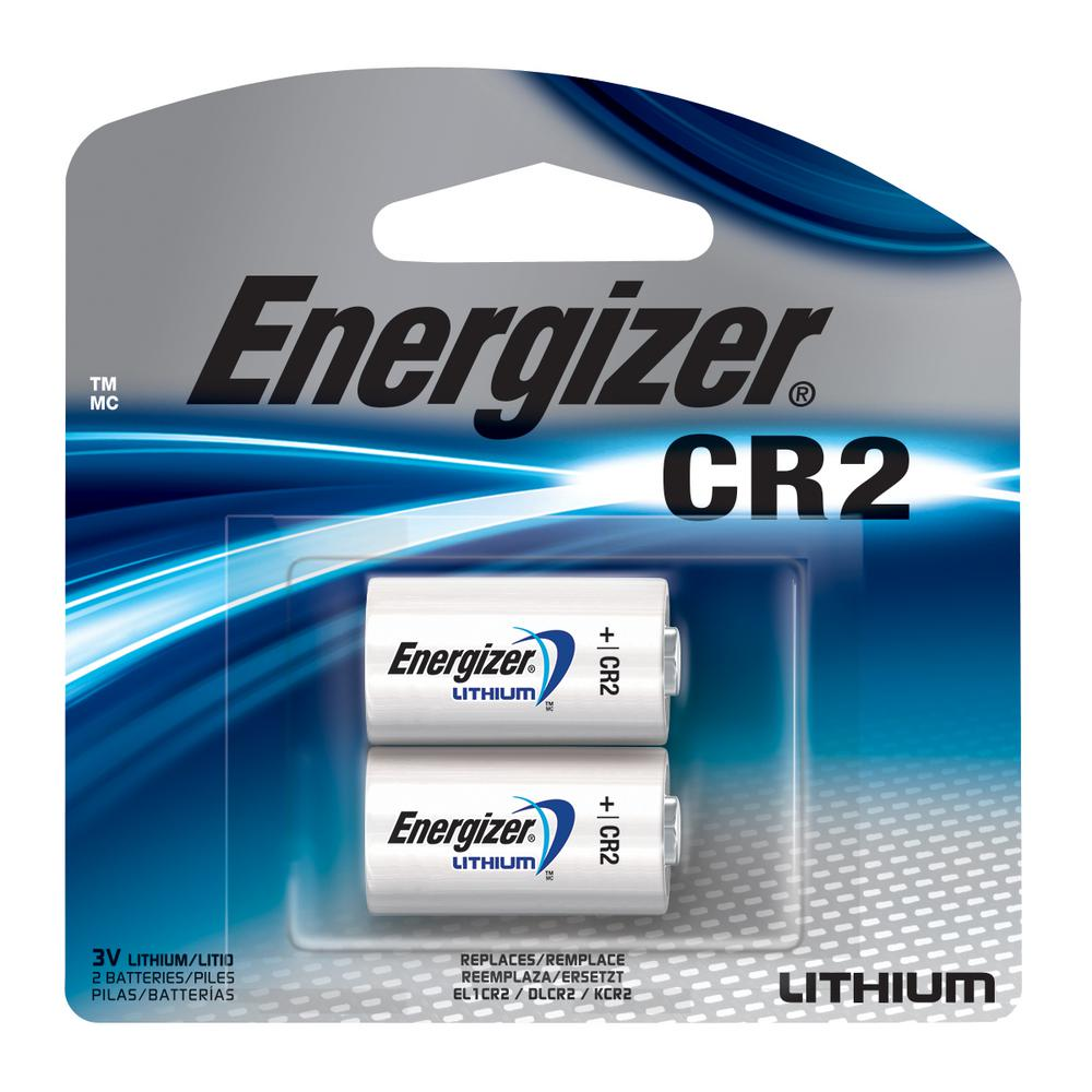 Energizer Cr2 Lithium Battery 2 Pack El1cr2bp2 The Home Depot 1 Pk Standard