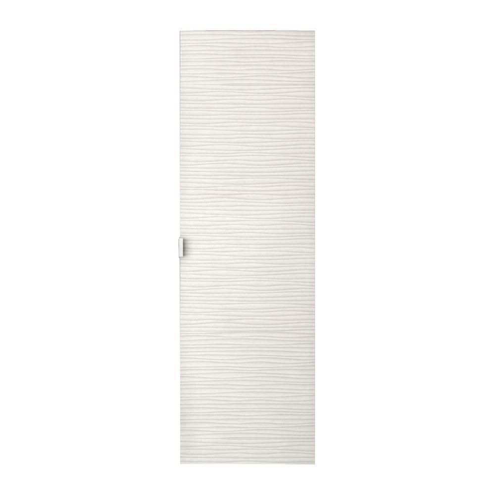 Cutler Kitchen and Bath Textures Collection 15 in. W x 48 in. H x 12-1/4 in. D Bathroom Storage Wall Cabinet in Contour White
